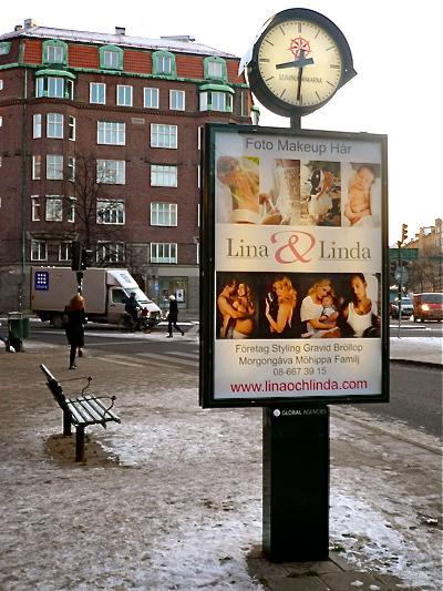 Lina&Linda affisch på stan