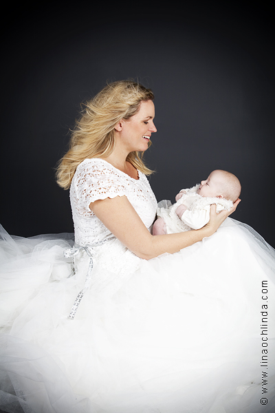 Babyfoto Jessica och Ellie