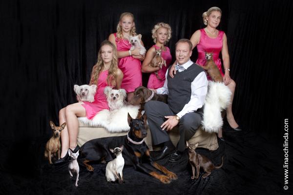 Familjefotografering med husdjur