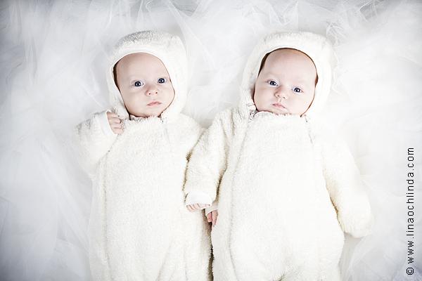 Babyfoto Ellie och Sam